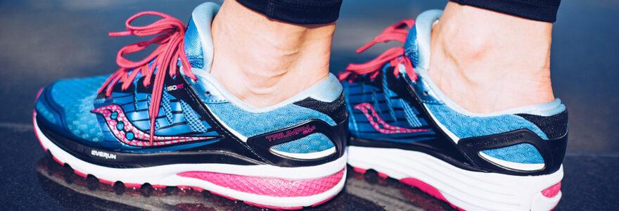 baskets de running avec amorti