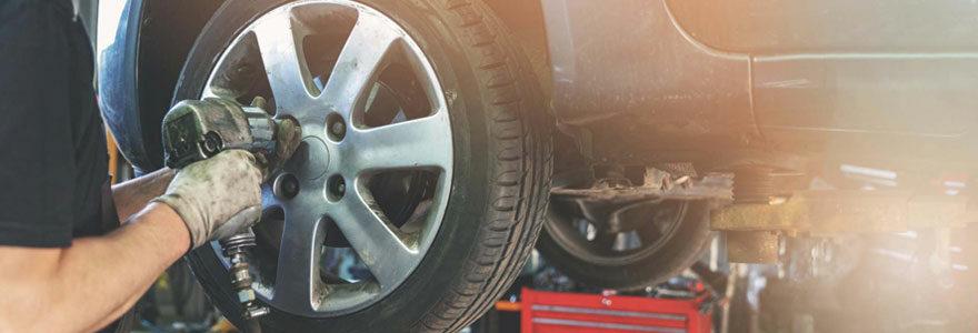 Entretien et changement de pneus